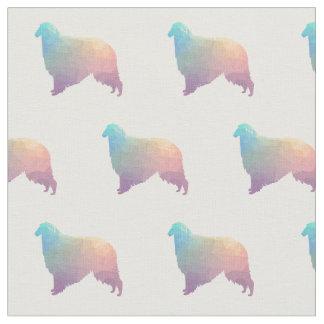 Borzoi Dog Geometric Pattern Silhouette Pastel Fabric
