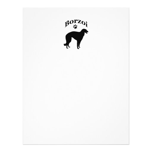 borzoi dog pawprint flyer