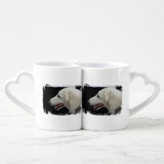 Borzoi Dog Couple Mugs