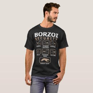 Borzoi Dog Security Pets Love Funny Tshirt