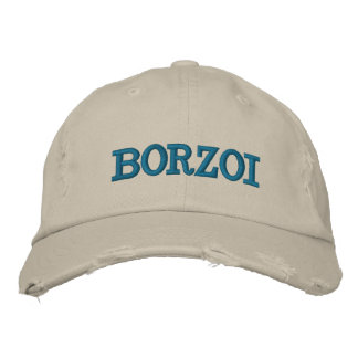 Borzoi Embroidered Cap