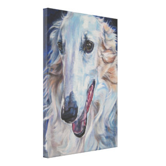 borzoi Fine Art Painting on Wrapped Canvas