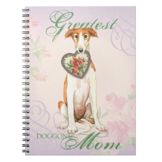 Borzoi Heart Mom Notebook