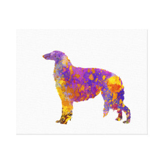 Borzoi in watercolor canvas print