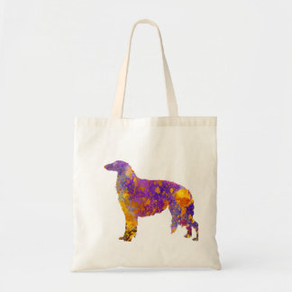 Borzoi in watercolor tote bag