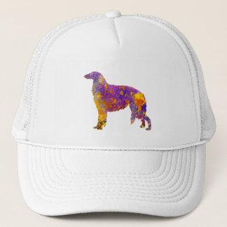 Borzoi in watercolor trucker hat