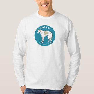 Borzoi Long SleeveT-shirt (White) T-Shirt