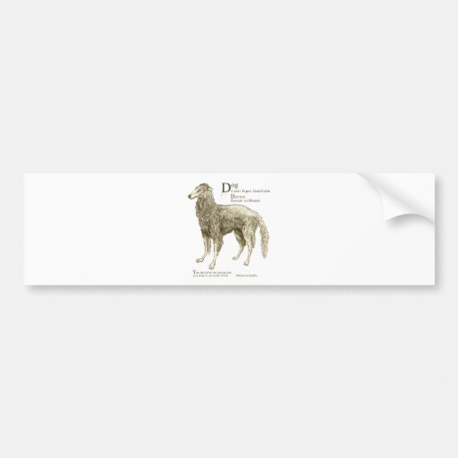 Borzoi - plain bumper stickers