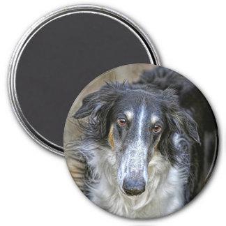 Borzoi Rescue Dog 7.5 Cm Round Magnet