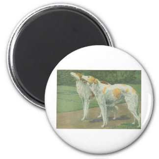 Borzoi (Russian Wolfhound) 6 Cm Round Magnet