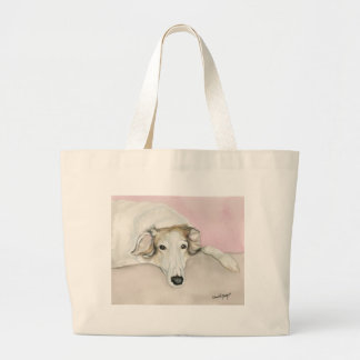 Borzoi Russian Wolfhound  Dog Art Canvas Tote Bag
