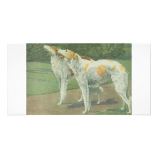 Borzoi (Russian Wolfhound) Picture Card