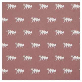 Borzoi Russian Wolfhound Trotting Dog Art Fabric