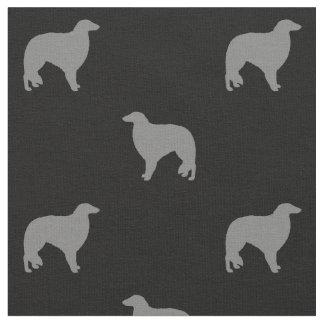 Borzoi Silhouettes Pattern Fabric