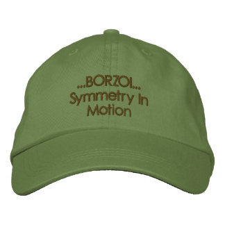 Borzoi Symmetry In Motion Embroidered Hat