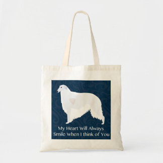 Borzoi Thinking of You Design Canvas Bags