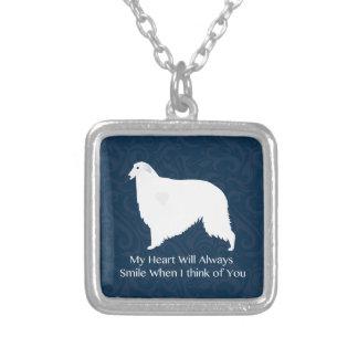 Borzoi Thinking of You Design Necklaces