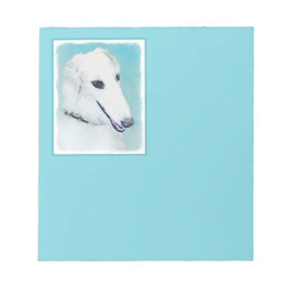 Borzoi (White) Notepad