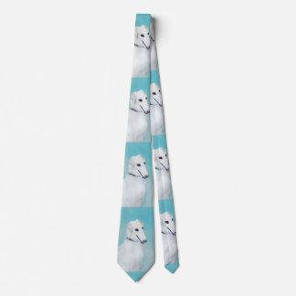 Borzoi (White) Painting - Cute Original Dog Art Tie