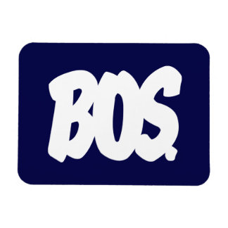 BOS Letters Rectangular Photo Magnet