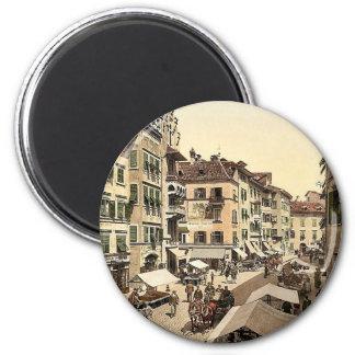 Bosen Torgglhaus and fruit market, Tyrol, Austro-H Fridge Magnets