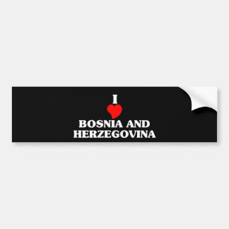 BOSNIA AND HERZEGOVINA BUMPER STICKER