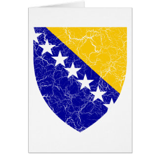Bosnia And Herzegovina Coat Of Arms Card