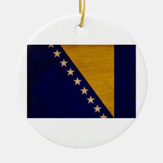 Bosnia and Herzegovina Flag Round Ceramic Decoration