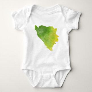 Bosnia and Herzegovina Map Baby Bodysuit