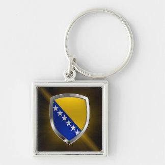 Bosnia and Herzegovina Metallic Emblem Key Ring