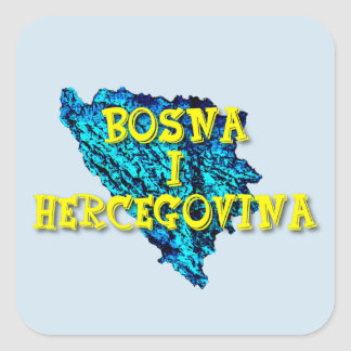 Bosnia and Herzegovina Square Sticker