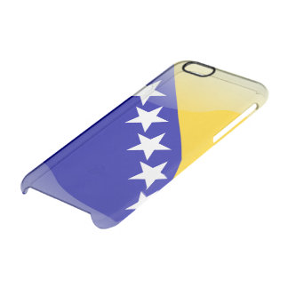 Bosnia glossy flag clear iPhone 6/6S case