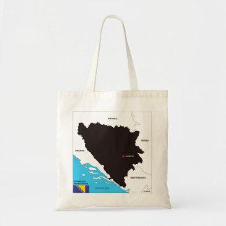 Bosnia Herzegovina country political map flag Bag