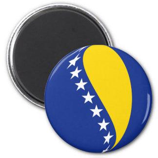 Bosnia Herzegovina Fisheye Flag Magnet