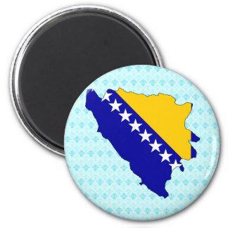 Bosnia Herzegovina Flag Map full size Magnet
