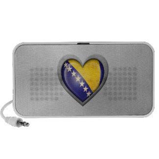 Bosnia Herzegovina Heart Flag Stainless Steel Effe Notebook Speakers