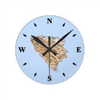 Bosnia Herzegovina Map Clock