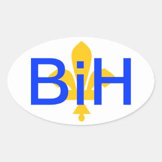 Bosnia-Herzegovina Oval Sticker