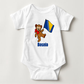 Bosnia Teddy Bear Baby Bodysuit