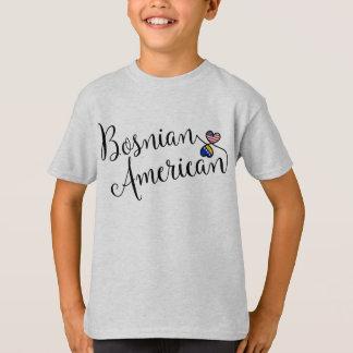 Bosnian American Entwinted Hearts Tee Shirt
