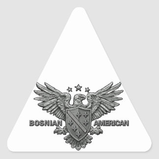 Bosnian American Themed Apparel Triangle Sticker