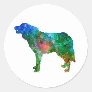 Bosnian and Herzegovinian Croatian Shepherd Dog in Classic Round Sticker