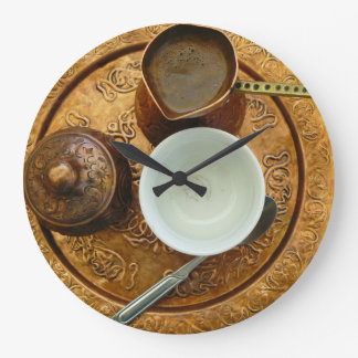 Bosnian coffee set wall clock