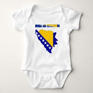 Bosnian country flag baby bodysuit
