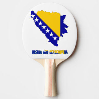 Bosnian country flag ping pong paddle