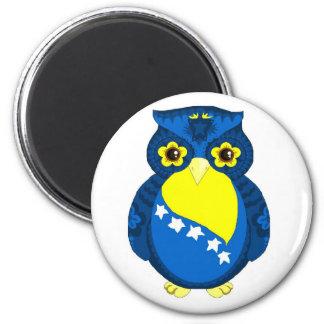 Bosnian Flag Owl magnet