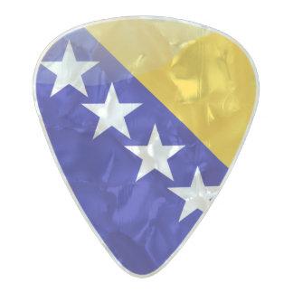 Bosnian flag pearl celluloid guitar pick