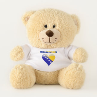 Bosnian flag teddy bear