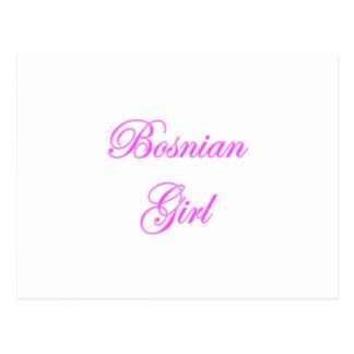 Bosnian Girl Postcard
