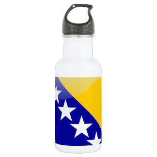 Bosnian glossy flag 532 ml water bottle